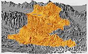 Political Panoramic Map of Chimbu, desaturated