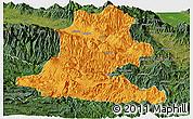 Political Panoramic Map of Chimbu, satellite outside