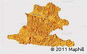 Political Panoramic Map of Chimbu, single color outside