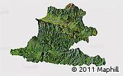 Satellite Panoramic Map of Chimbu, cropped outside