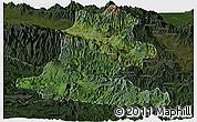 Satellite Panoramic Map of Chimbu, darken