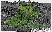 Satellite Panoramic Map of Chimbu, desaturated
