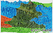 Satellite Panoramic Map of Chimbu, political outside
