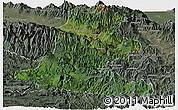 Satellite Panoramic Map of Chimbu, semi-desaturated