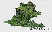 Satellite Panoramic Map of Chimbu, single color outside
