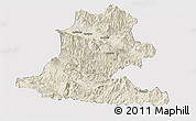 Shaded Relief Panoramic Map of Chimbu, cropped outside