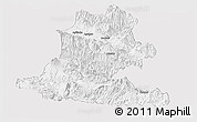 Silver Style Panoramic Map of Chimbu, single color outside