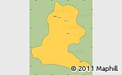 Savanna Style Simple Map of Chimbu, cropped outside