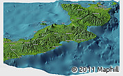 Satellite Panoramic Map of East New Britain