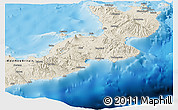 Shaded Relief Panoramic Map of East New Britain