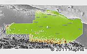 Physical 3D Map of East Sepik, desaturated