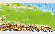 Physical 3D Map of East Sepik