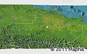 Satellite 3D Map of East Sepik