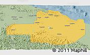 Savanna Style 3D Map of East Sepik