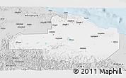 Silver Style 3D Map of East Sepik
