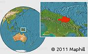 Satellite Location Map of East Sepik