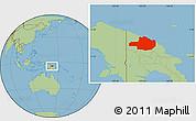Savanna Style Location Map of East Sepik