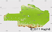 Physical Map of East Sepik, cropped outside