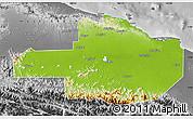 Physical Map of East Sepik, desaturated