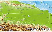 Physical Map of East Sepik