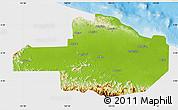 Physical Map of East Sepik, single color outside