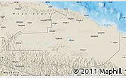 Shaded Relief Map of East Sepik