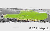 Physical Panoramic Map of East Sepik, desaturated