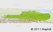 Physical Panoramic Map of East Sepik, lighten