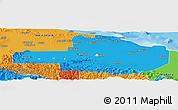 Political Panoramic Map of East Sepik