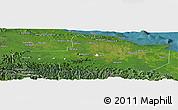 Satellite Panoramic Map of East Sepik