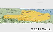 Savanna Style Panoramic Map of East Sepik