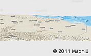 Shaded Relief Panoramic Map of East Sepik