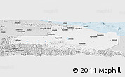 Silver Style Panoramic Map of East Sepik