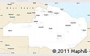 Classic Style Simple Map of East Sepik