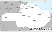 Gray Simple Map of East Sepik