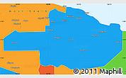 Political Simple Map of East Sepik