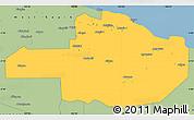Savanna Style Simple Map of East Sepik