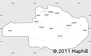 Silver Style Simple Map of East Sepik, cropped outside