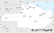Silver Style Simple Map of East Sepik