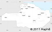 Silver Style Simple Map of East Sepik, single color outside