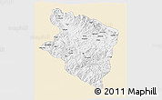 Classic Style 3D Map of Eastern Highlands, single color outside