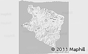Gray 3D Map of Eastern Highlands, single color outside