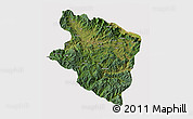 Satellite 3D Map of Eastern Highlands, cropped outside