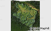 Satellite 3D Map of Eastern Highlands, darken