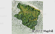 Satellite 3D Map of Eastern Highlands, lighten