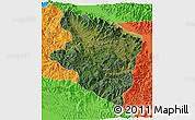 Satellite 3D Map of Eastern Highlands, political outside