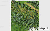 Satellite 3D Map of Eastern Highlands