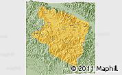 Savanna Style 3D Map of Eastern Highlands
