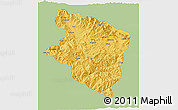 Savanna Style 3D Map of Eastern Highlands, single color outside