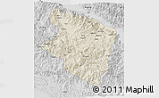 Shaded Relief 3D Map of Eastern Highlands, desaturated